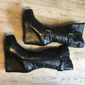 Platform Wedge Boots {like new}